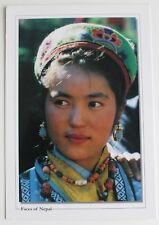 Faces of Nepal Postcard of Beautiful Girl in a Traditional Wear