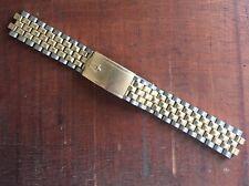 Bulova by JB Champion brick bracelet gold plated middle NOS missing end links