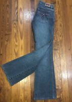 Tyte Jeans Juniors 7 Stretch Bootcut Jeggings Faded Ink &  Pink Stitching