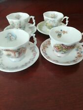 Royal Doulton Bramley Hedge 'Four Seasons' A Miniature Set of Teacups & Saucers