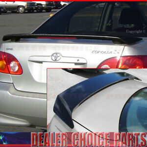 For 2003-2007 2008 Toyota Corolla Factory Style Spoiler W/L PAINTED GLOSS BLACK