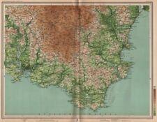 SOUTH DEVON. Dartmoor Torquay Plymouth Brixham Salcombe. LARGE 1903 old map
