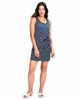 NEW Vineyard Vines Stripe Sankaty Side Tie Tank Dress Navy Blue Large