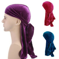 Unisex Headwrap Men Women Bandana Turban Cap Durag do doo du rag Long Tail Hat C