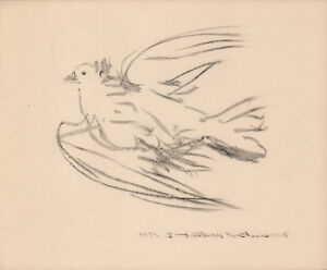 PABLO PICASSO - THE DOVE IN FLIGHT 2* RARE EAST GERMAN GDR HELIOGRAPHY FROM 1956