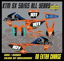 KTM SX 50 65 Kit De Gráficos Kit de Pegatinas - - Calcomanías-motocross-mx Tld