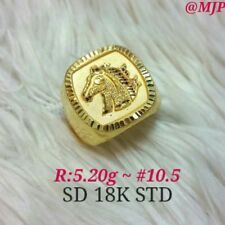 ring for men saudi gold 18K authentic gold ring