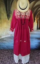 Pink & Cream Dress Hand Woven, Mayan Chiapas Mexico Hippie Boho Santa Fe Cowgirl