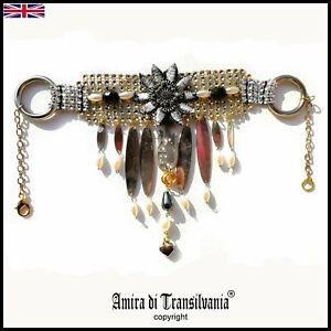 streampunk jewelry woman jewels necklace swarovski fashion collier punk choker 1