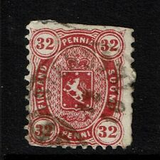 Finland SC# 23, Used, straight edge, missing perfs, large page remnant - S2431