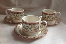 3 X TESCO HOME SHOP LEMON TREE CUPS & SAUCERS VERY GOOD CONDITION