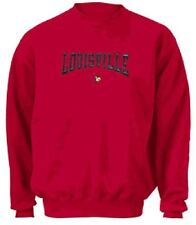 Louisville Cardinals Ncaa Embroidered Crewneck Sweatshirt By Adidas