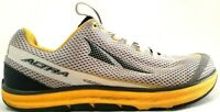 Altra Mens Shoes 8.5 Torin Zero Drop NRS Running Athletic Sneaker Gray Yellow