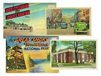 LOT of 4 Tennessee - Virginia State VINTAGE POSTCARDS & SOUVENIR POSTCARD BOOKS