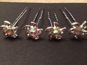 4 Star Flower Hair Slides Accessories Bride Bridesmaid Flower Girl Wedding