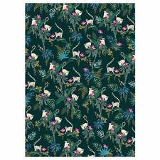 Lemur Dark Green Luxury Gift Wrap Sheet - Sara Miller Wrapping Paper NEW