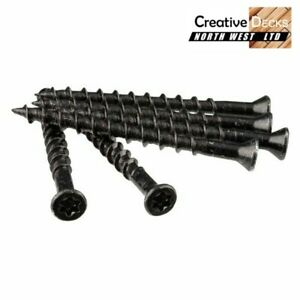 T15 - Black Stainless Steel Screws suitable for most Composite Decking Clips