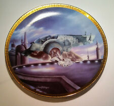 Hamilton STAR WARS Space Vehicle's THE SLAVE I Collector Plate #2684B Boba Fett