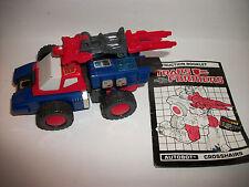 Transformers G1 Takara Hasbro Original Figure Crosshairs Complete 1986