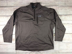 Under Armour men's brown R-1 style 1/4 zip jacket XXL