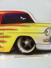 """Atlantic Blvd"" 1955 Chevy New Embossed METAL ""Garage Decor"" Sign"