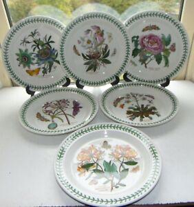 Portmeirion Botanic  Garden 6 x Dinner Plates 27cm Honeysuckle Peony Lily