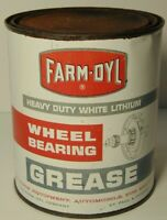 Vintage FARM OYL Old Original 2 lb Grease Tin Oil Can St. Paul Minnesota Chicago