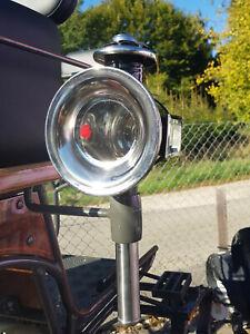 1 Paar Kutschenlampen, chrom / schwarz, Kutschlampen
