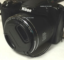 FRONT SNAP-ON LENS CAP  DIRECTLY TO CAMERA NIKON COOLPIX L340 L 340 +HOLDER