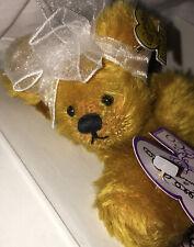 "Annette Funicello Bear Co. 7� Plush Bean Bear - ""Mango Tango�- Coa & Tags"