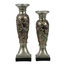 D'Lusso Designs TT02 Shandra Design Two Piece Hurricane Candlestick Set NEW