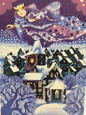 "Vtg Villeroy & Boch VILBO CARD Porcelain Christmas Postcard Silent Night 4x6"""