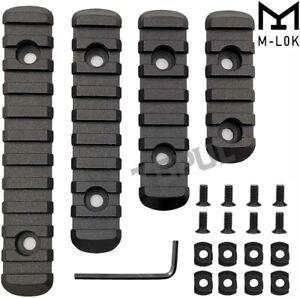 M-LOK Polymer Picatinny Weaver Rail Section Set 5 7 9 11 Slot 4PCS 4 Rail Set