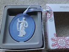 WEDGWOOD BLUE AND WHITE JASPER 2015 ANNUAL XMAS CAMEO DECORATION MIB