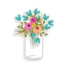 Rose Spring Flower Bouquet Mason Jar Sticker Car Cup Cooler Window Bumper Decal