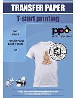 PPD Inkjet Iron-On Light Transfer Paper A4 x 10 Sheets PPD-1-10
