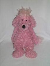 "Jellycat 12"" Plush Poodle Pink Puppy Dog Fuzzy Fur Medium Stuffed Animal Floppy"