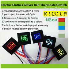 DC 3.7~12V Heated Vest Gloves Kneepad DIY Temperature Controller Rheostat Switch