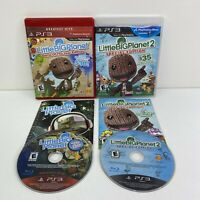 Little Big Planet 1 & 2 Playstaiton 3 PS3 Game Lot Clean, Complete & TESTED!