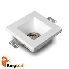 KingLed Luminaire encastré Craie Céramique Carré x Lampes à LED+Porte GU10 0628