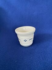 Longaberger Pottery Woven Traditions Blue Votive Cup/Crocks