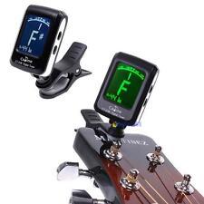 LCD Clip-on Electronic Digital Guitar Chromatic Bass Violin Ukulele Tuner QT