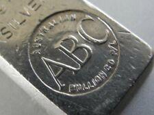 ABC Australian Bullion Company 1/2 OZ Silver Bar Extremely Rare