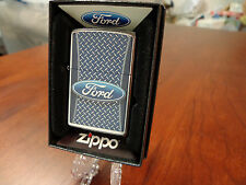 FORD DIAMOND PLATE ZIPPO LIGHTER MINT IN BOX