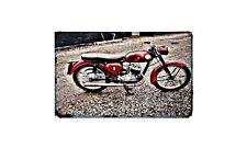 Bsa D10 Motorbike Sign Metal Retro Aged Aluminium Bike