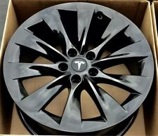 "19"" TESLA MODEL S Black 2016-19  OEM Factory Original Wheel Rim 1059337-00-A"