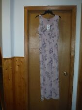 Sleeveless lined Maxi Dress LG Lily Rose Light Pink Floral print 100% polyester