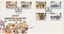 Unaddressed Jersey FDC First Day Cover 1995 Liberation 50th Anniversary Set
