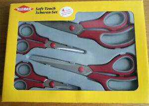Scissors Soft Touch - 4 piece set for Dressmaking and Craft Kleiber brand
