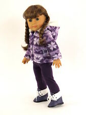 Purple Snowflake Pants & Jacket Set Made For 18 Inch American Girl Doll Clothes